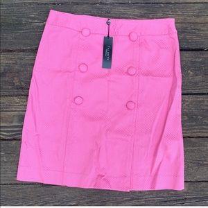Talbots | Pink textured skirt w/ button detail 8P